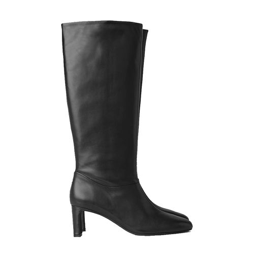 Cos Knee High Heeled Leather Boots