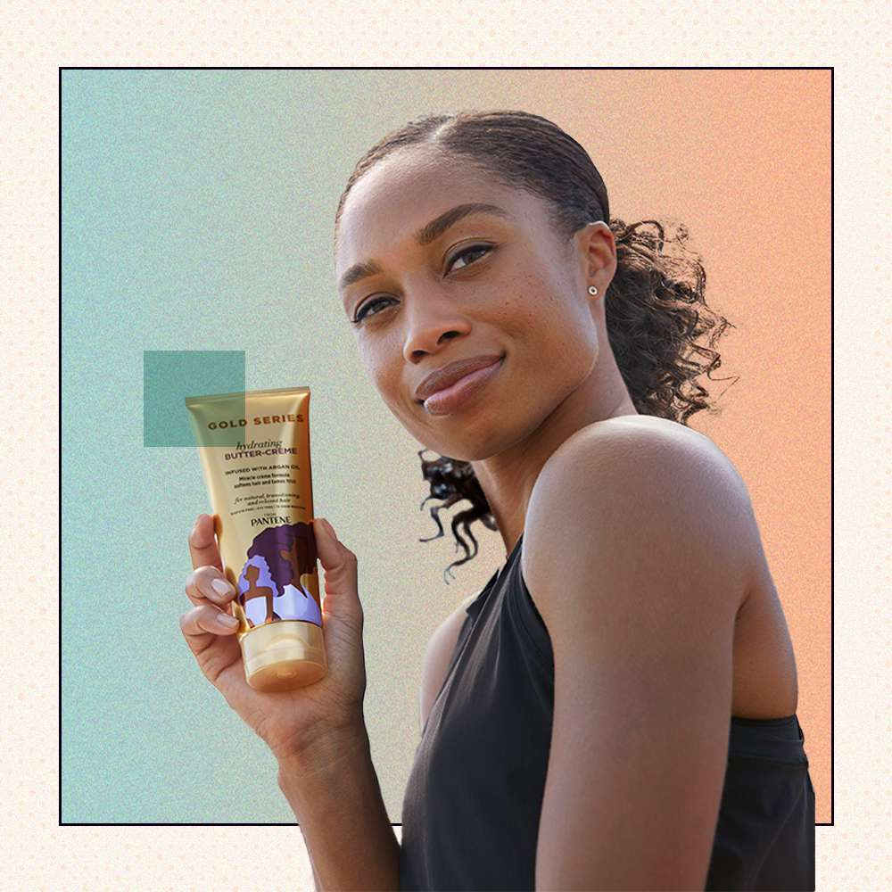 Allyson Felix with Pantene Gold Series Butter Creme