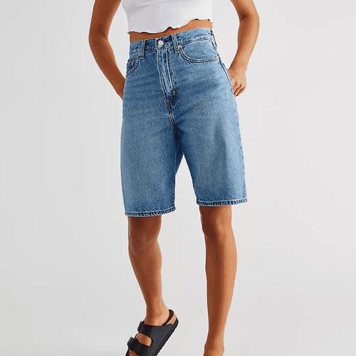 Free People High Loose Bermuda Shorts