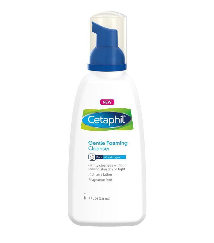 A pump bottle of Cetaphil Gentle Foaming Facial Cleanser at Target.