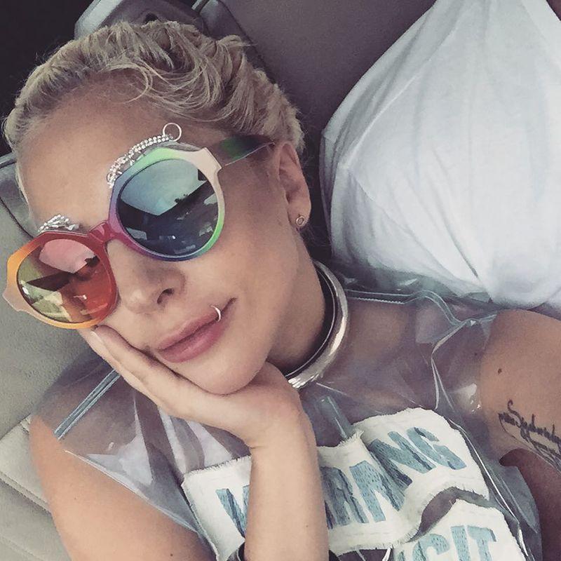 Lady Gaga Lip Piercing