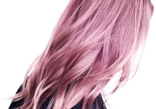woman with pink dyed hair