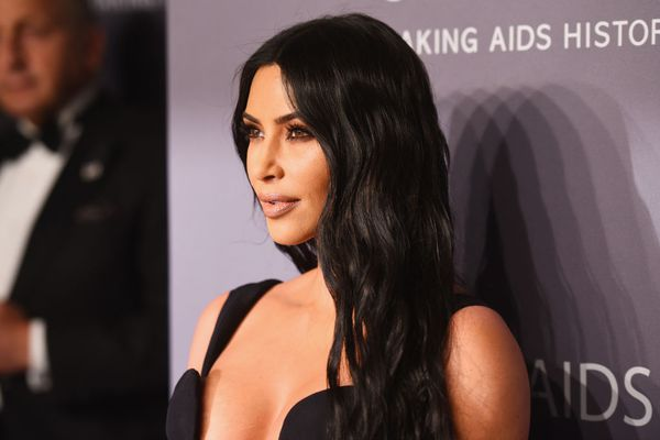 Kim Kardashian at the amfAR gala