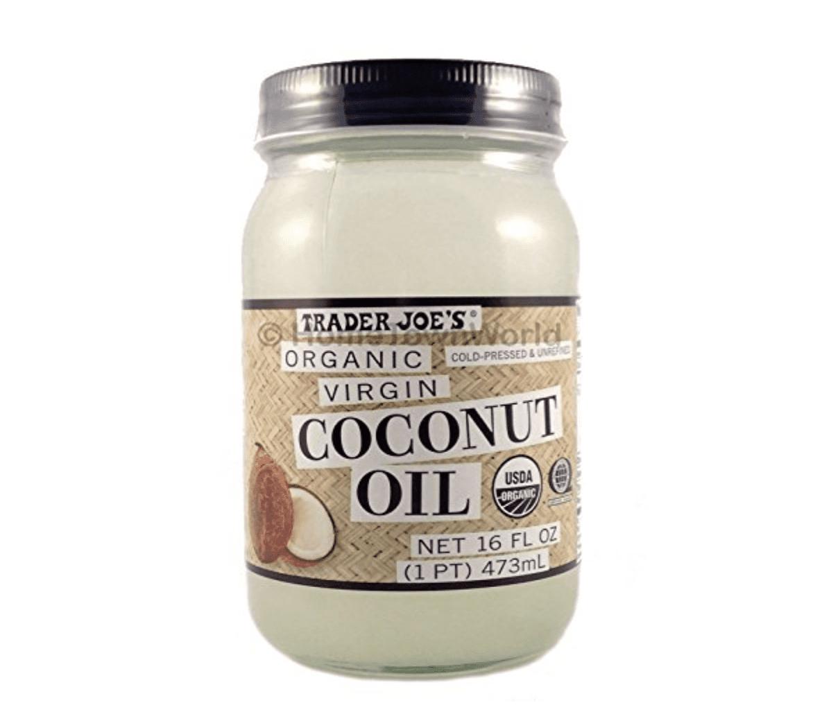 The virgin coconut oil