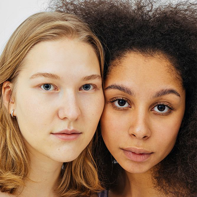 two people with differing phenotypes