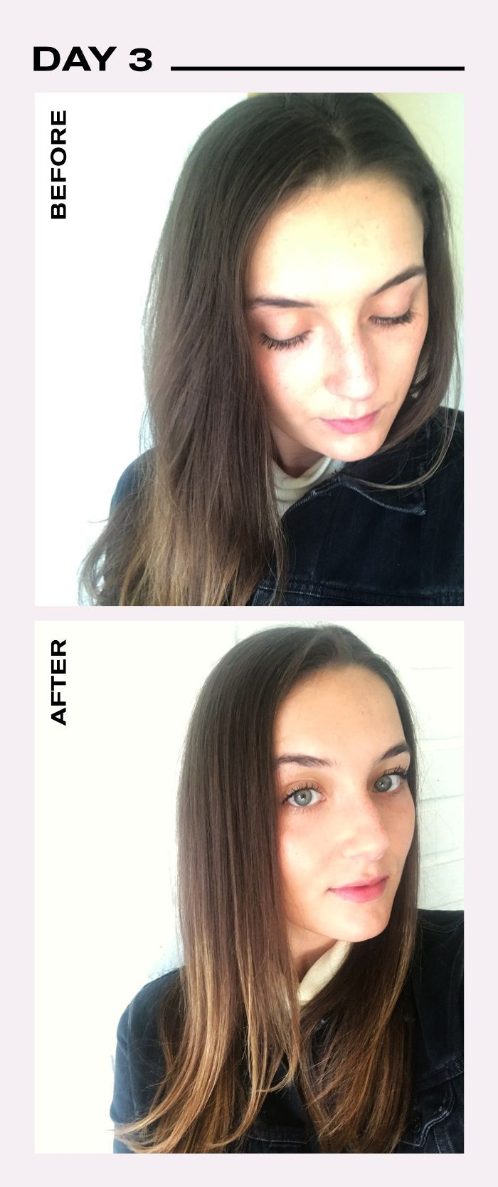 Day 3 Dry Shampoo Before/After Challenge