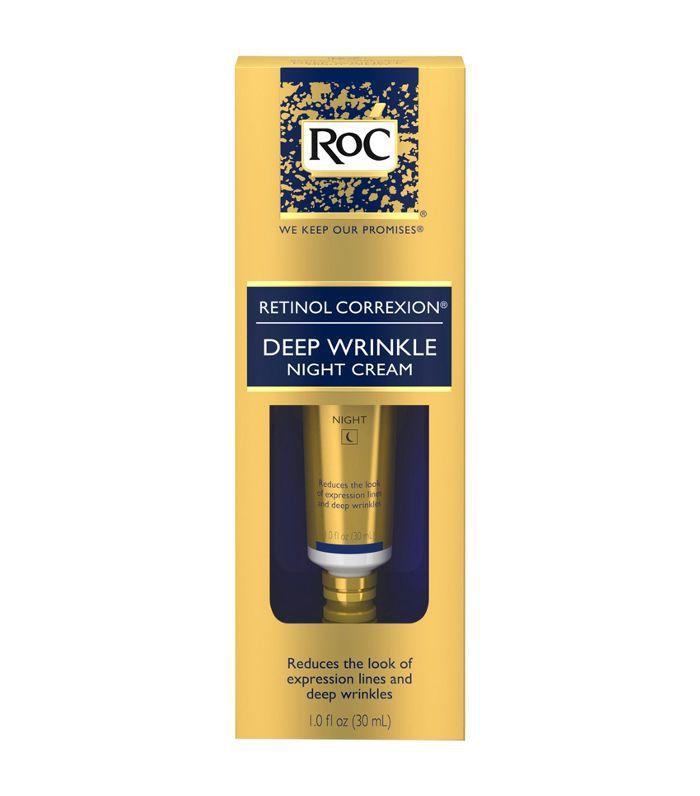 A box of RoC Retinol Correxion Deep Wrinkle Anti-Aging Night Cream at Target.