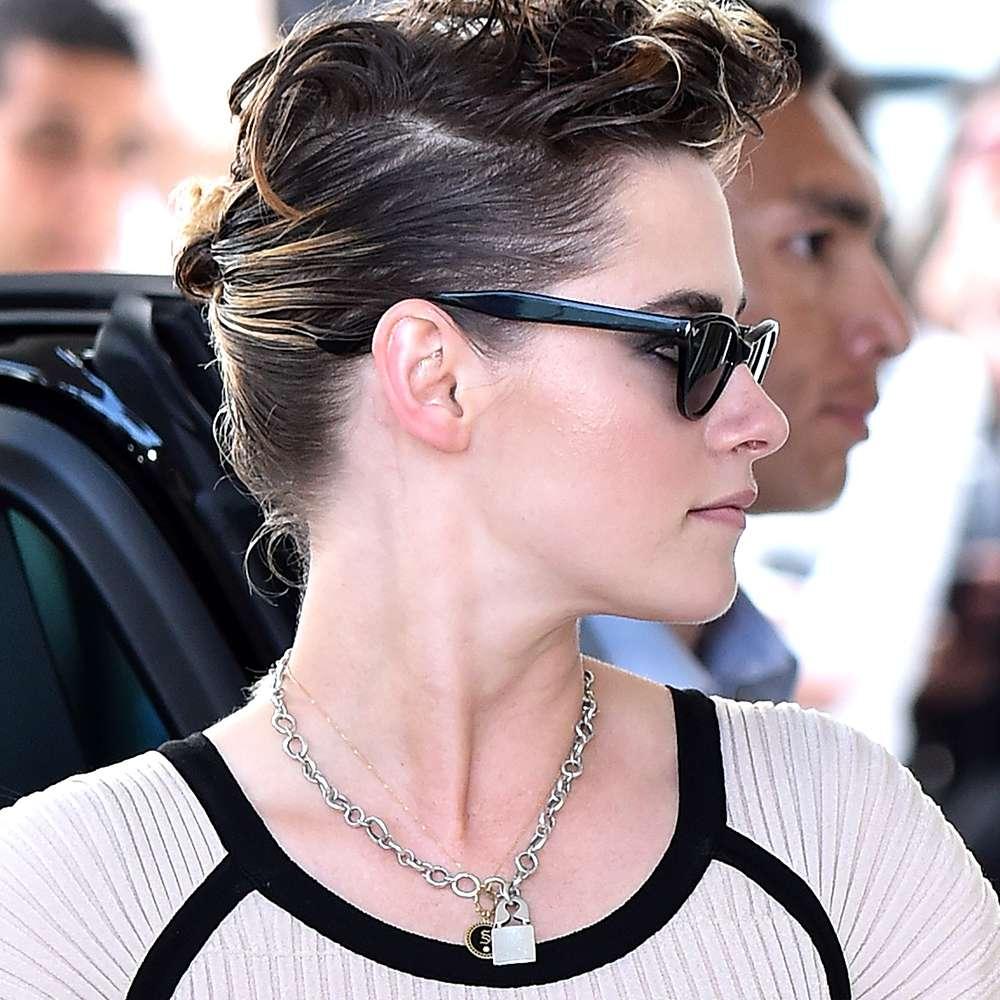 pompadour hairstyle on Kristen Stewart