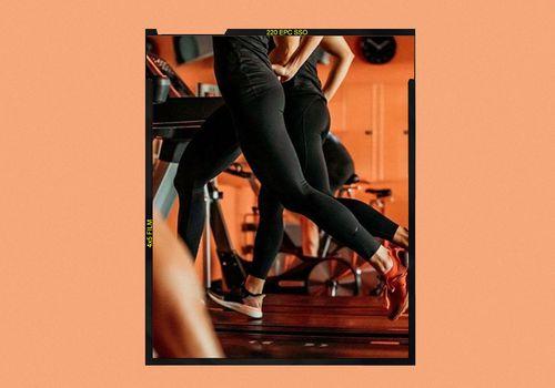women running on treadmill during orangetheory class