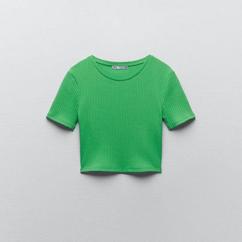 Zara Ribbed Crop Top
