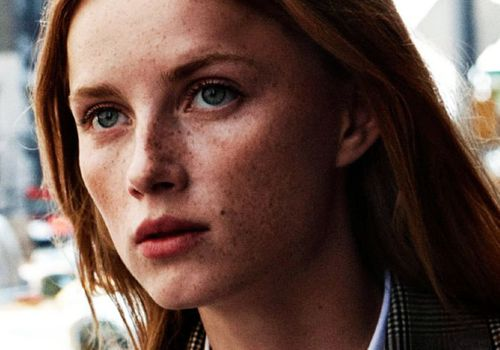 girl with red hair and freckles