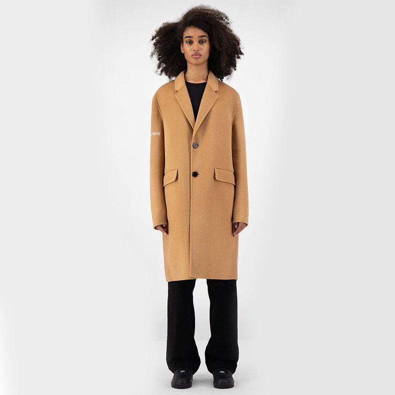 Camel Wool Captain Coat