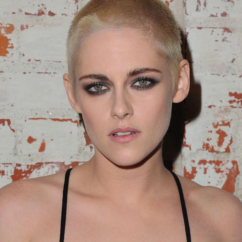 Kristen Stewart blonde buzz cut