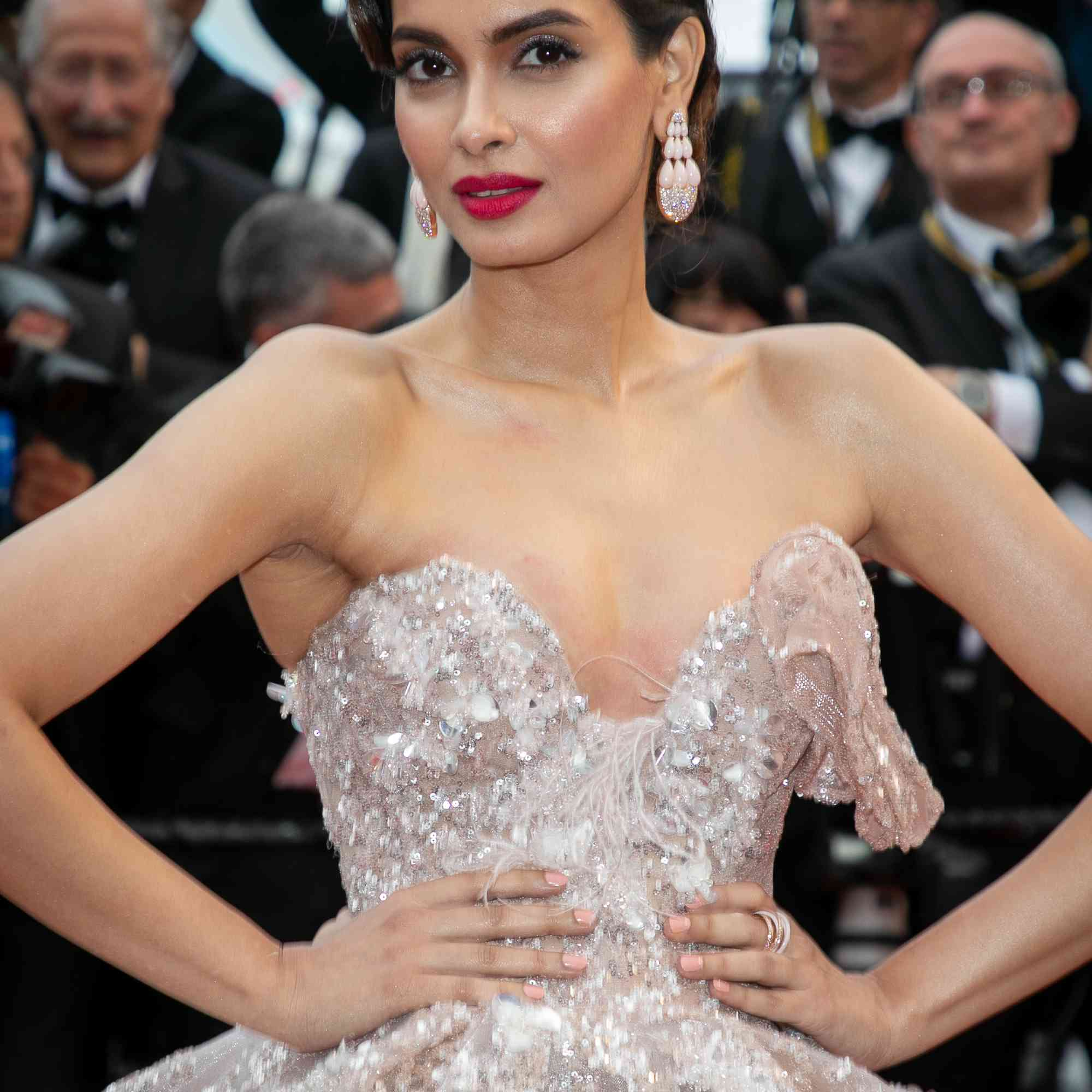 Diana Penty wearing a gown on the red carpet at the 72nd annual cannes film festival