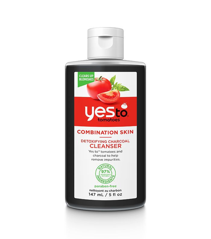Best drugstore cleanser: Yes To Tomatoes Detoxifying Charcoal Cleanser