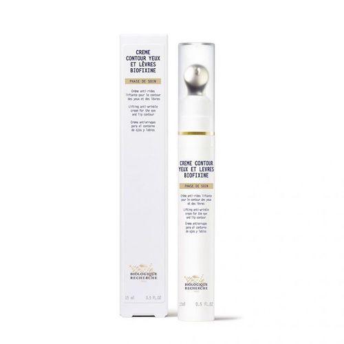 White eye cream dispenser