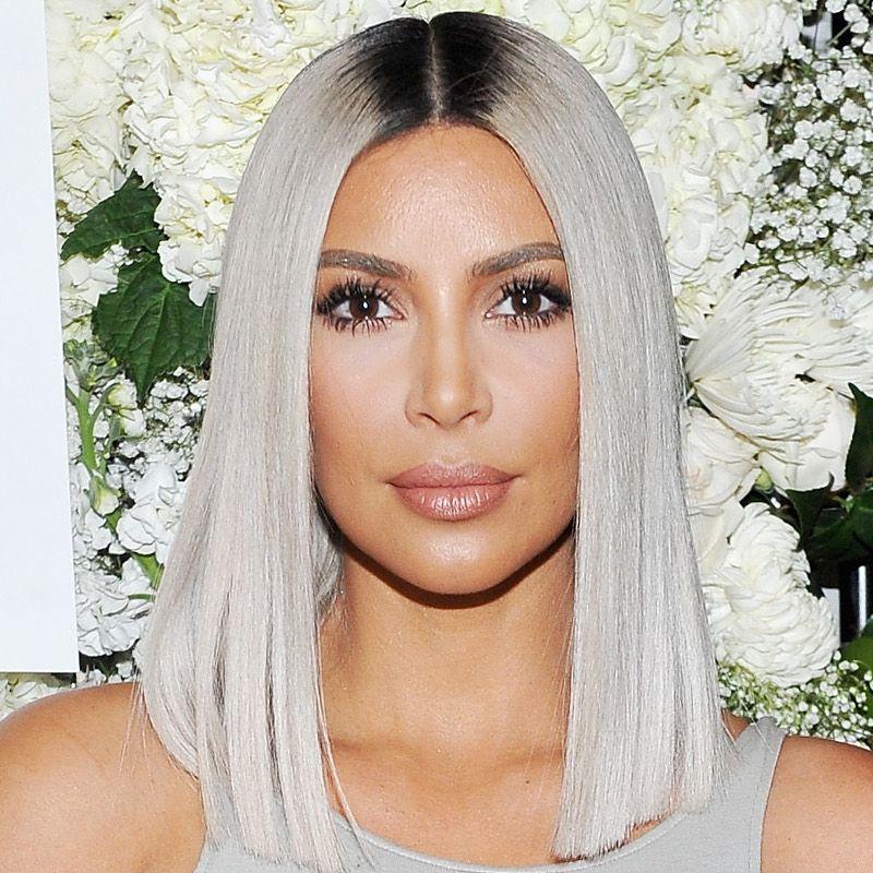 White Blonde Hair Kim Kardashian