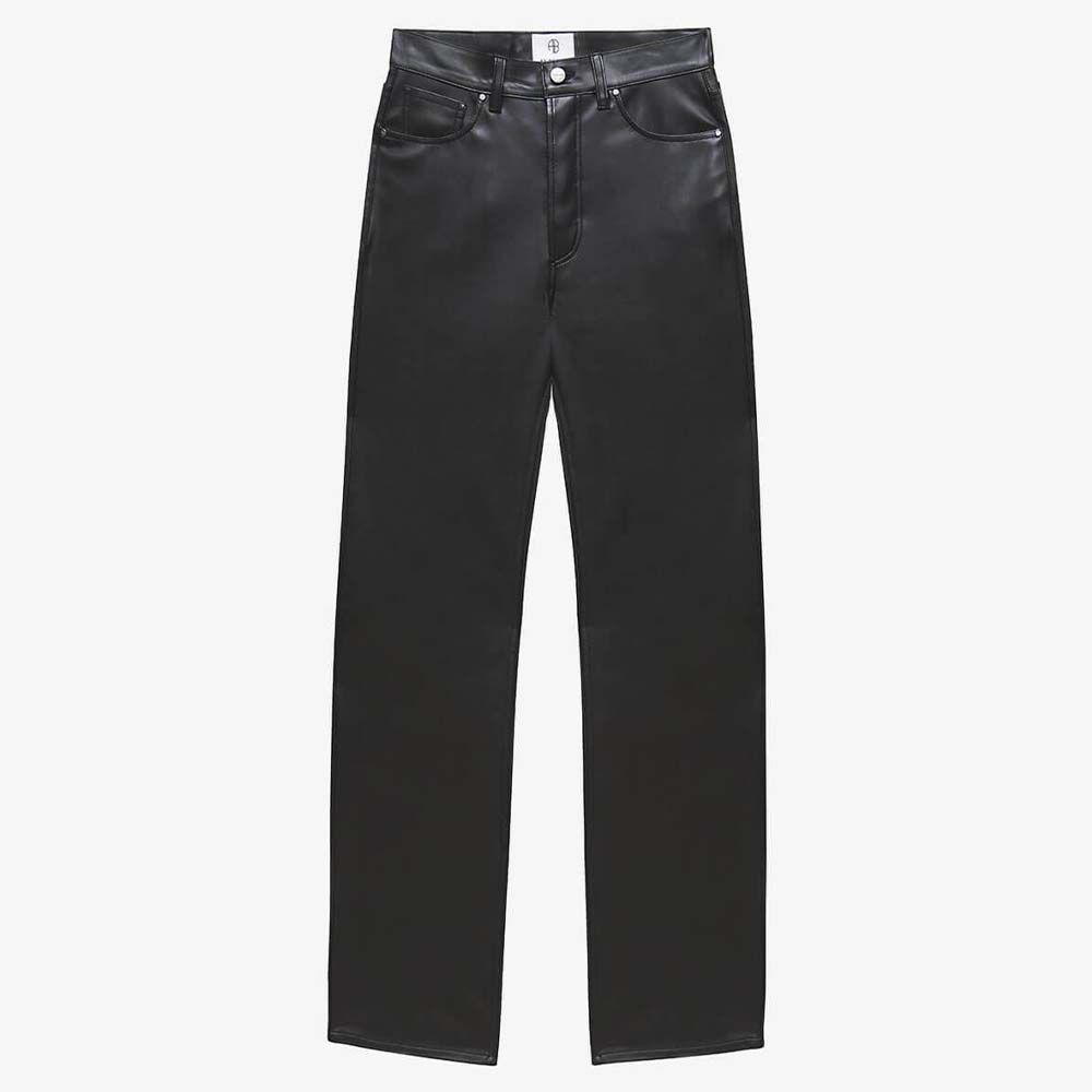 Kat Vegan Leather Straight-Leg Pant
