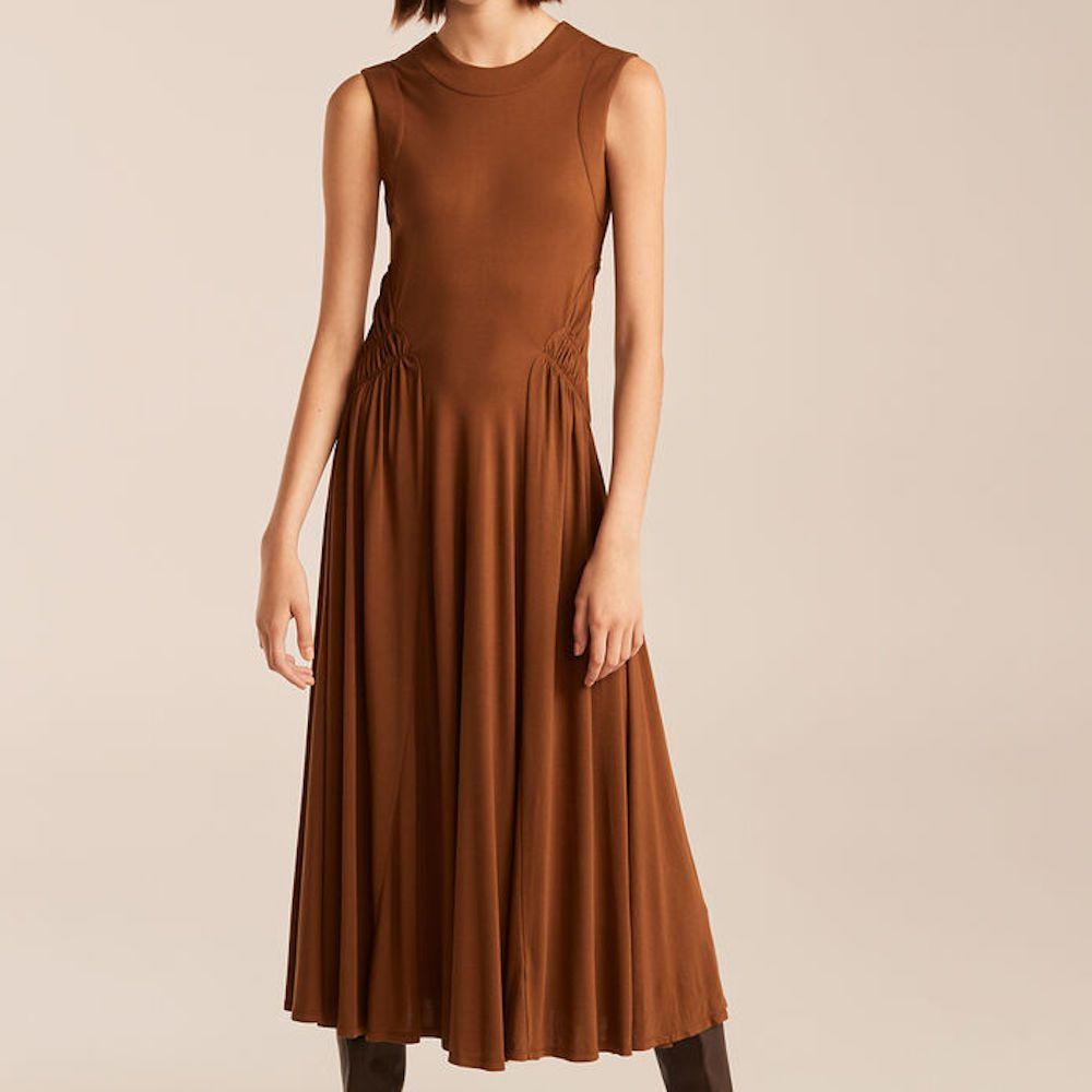 Rebecca Taylor Sleeveless Ruched Dress