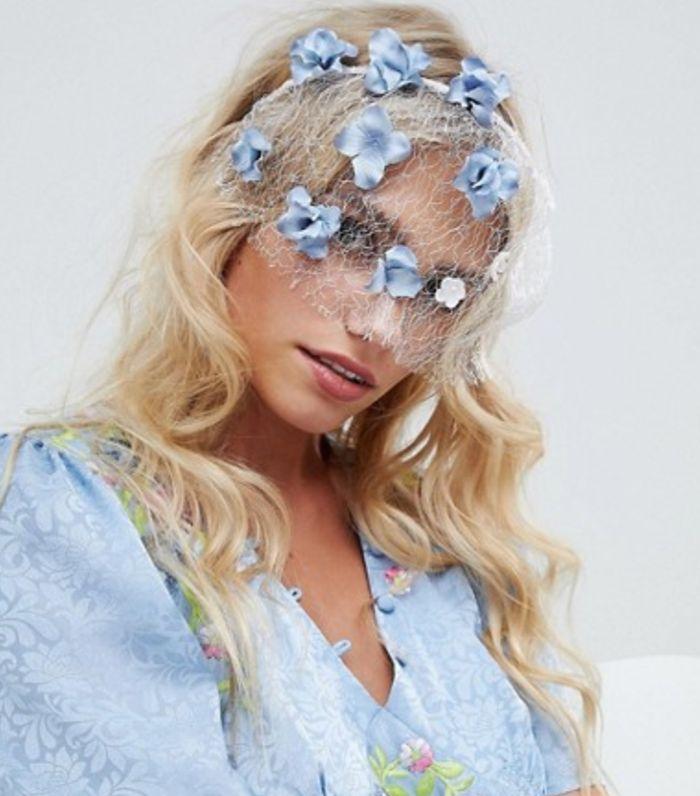 Pretty Floral Veil Headband