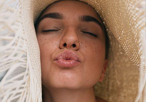 woman pouting