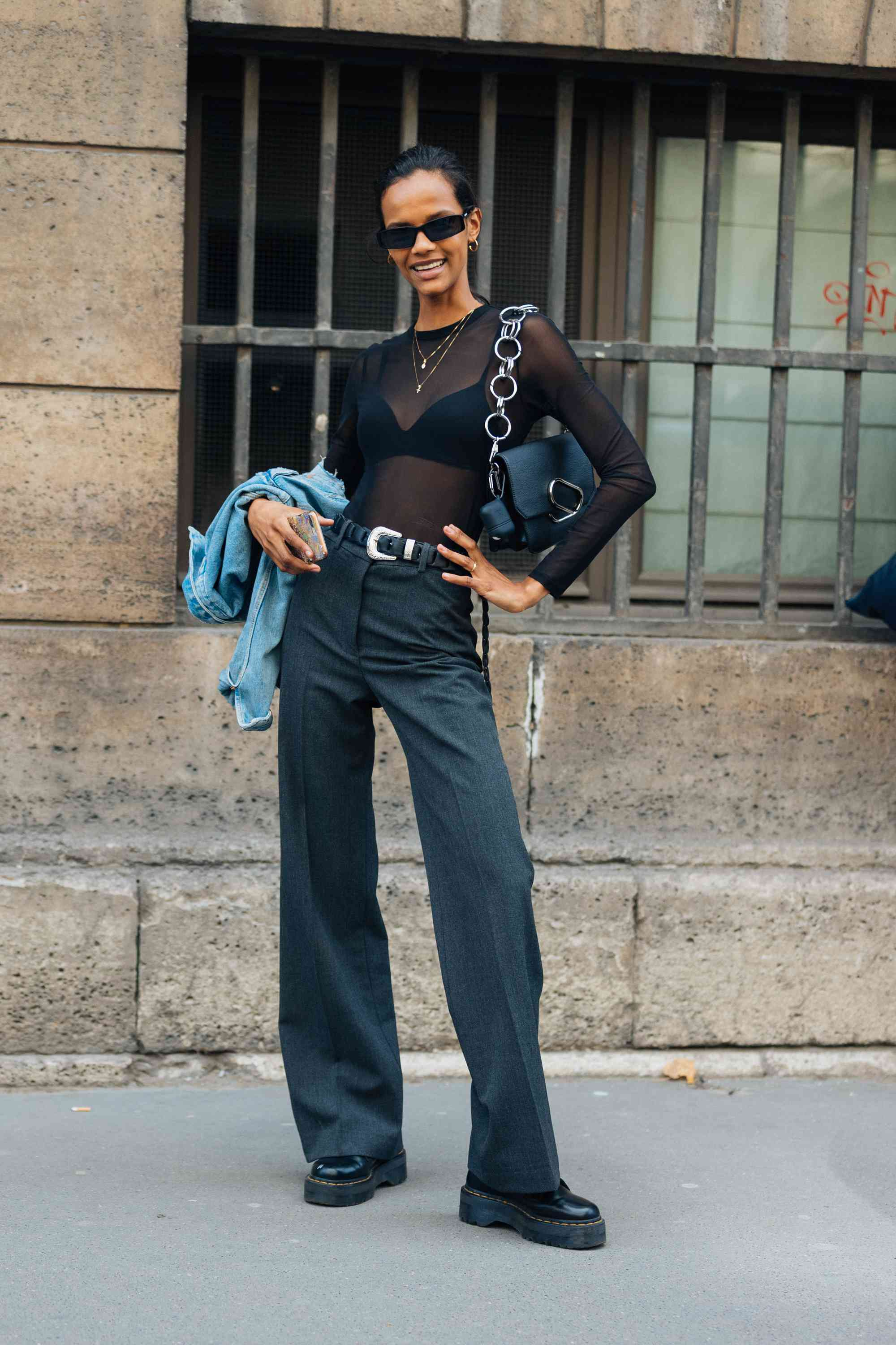 Dr. Martens Outfits Sheer Street Style