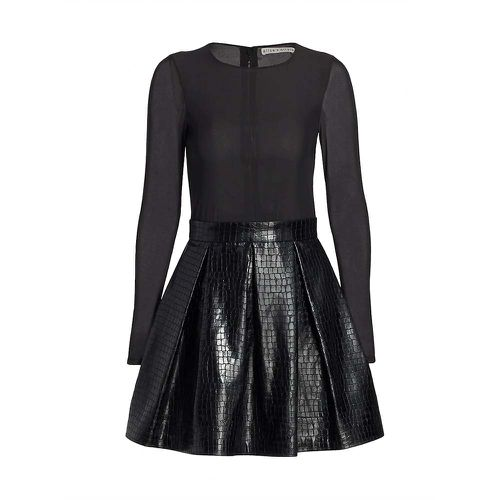 Chara Vegan Leather Party Dress ($375)