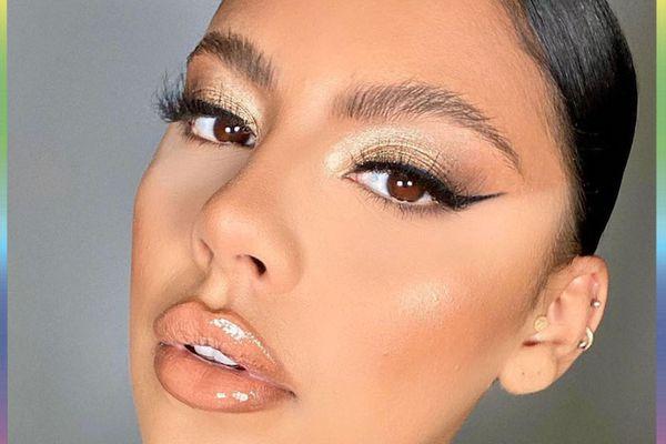 woman with brown eyes eyeshadow