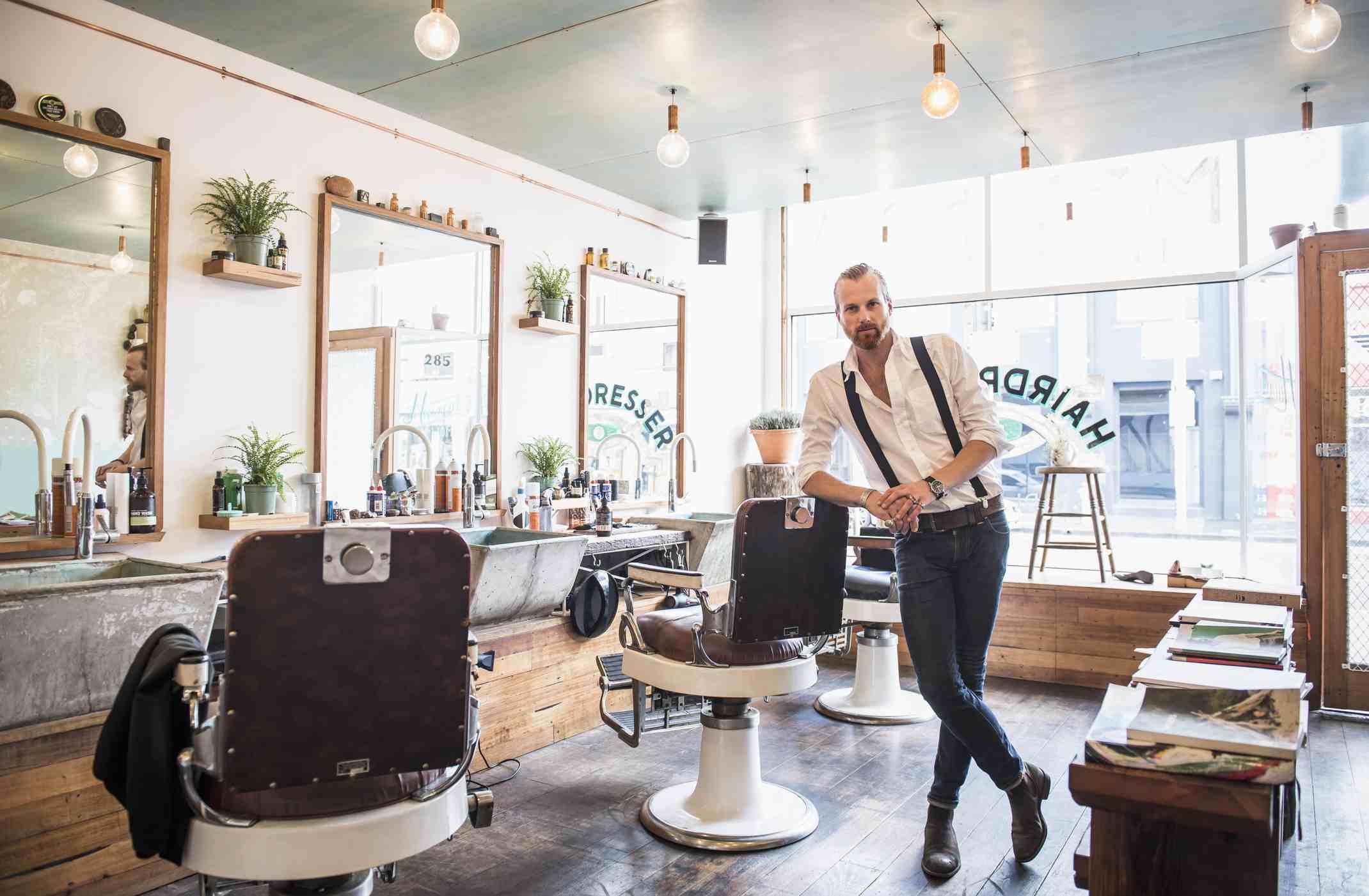 Barber in a barber shop
