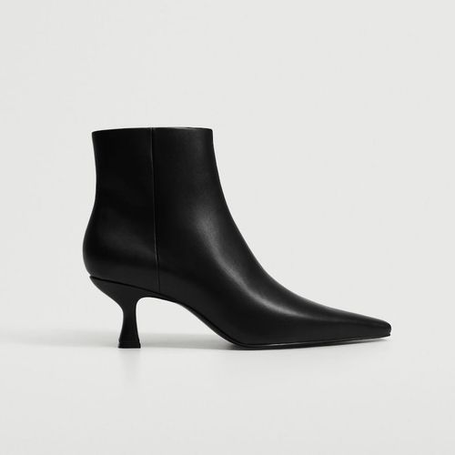 Mango Pointed Heel Ankle Boot