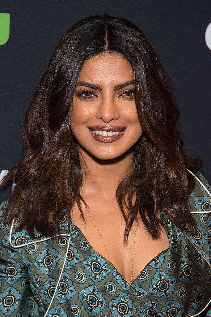 Priyanka Chopra wavy medium-length hair