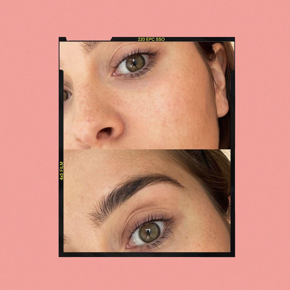 Rimmel Volume Colourist Mascara Tint Results on Emily Algar