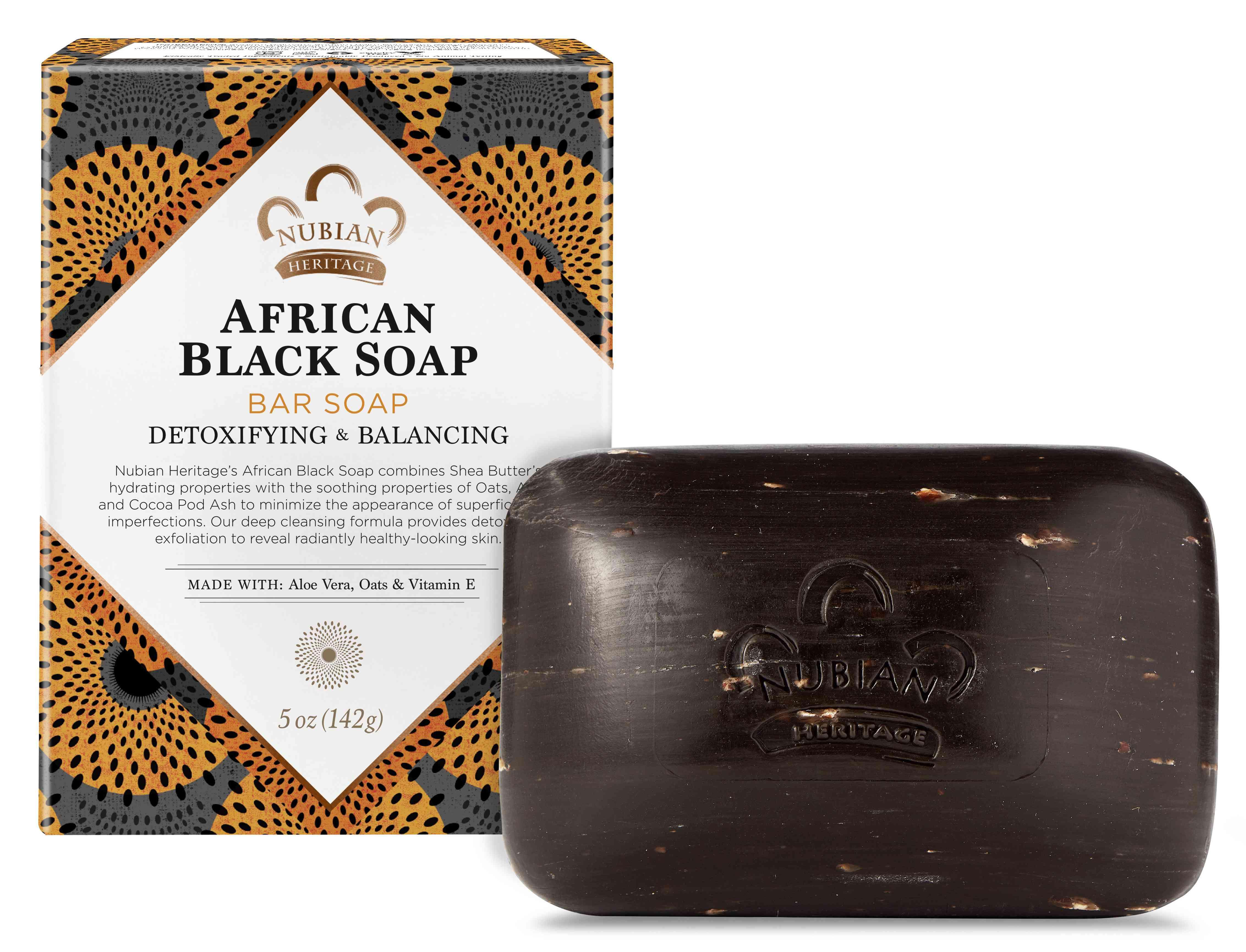 Nubian Heritage African Black Soap Bar