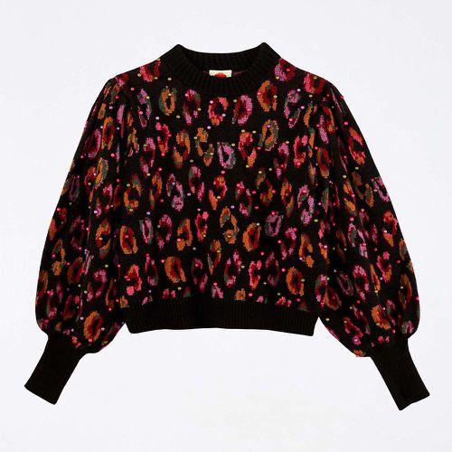 Black Ikat Dyed Leopard Ball Sweater ($215)