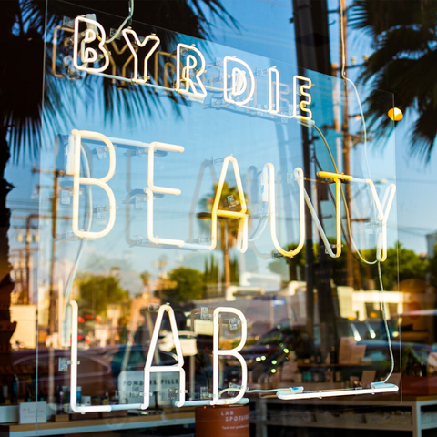 Byrdie Beauty Lab Los Angeles Sign