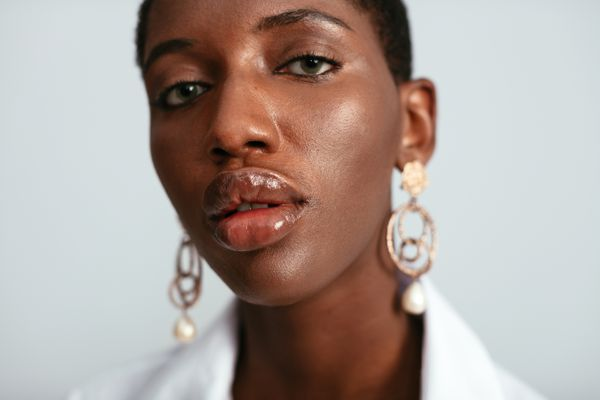 woman with clear skin