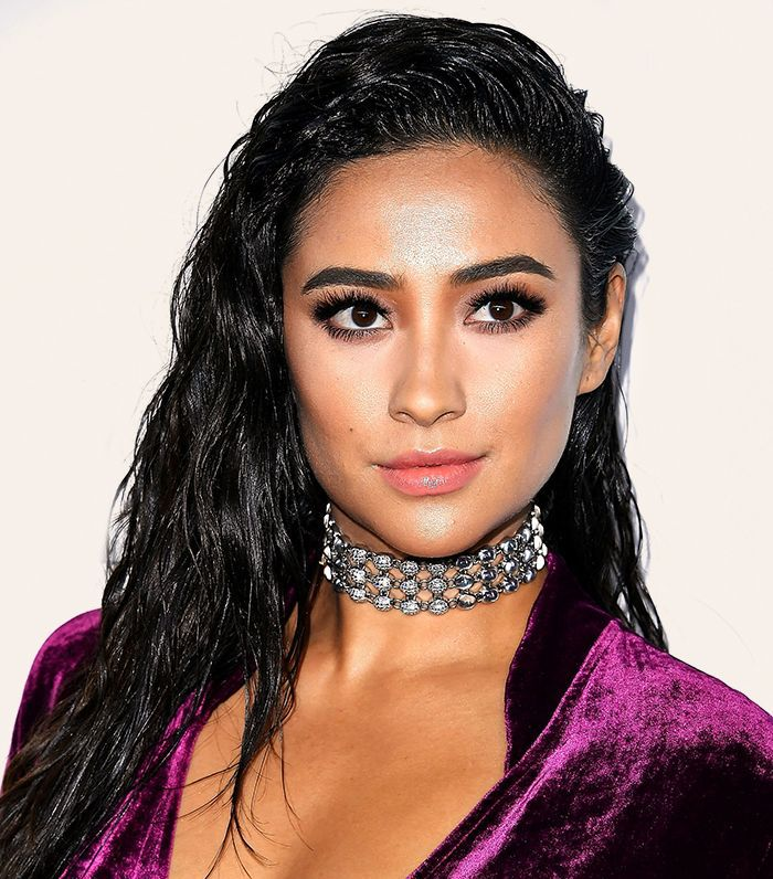 Shay Mitchel with wet hair