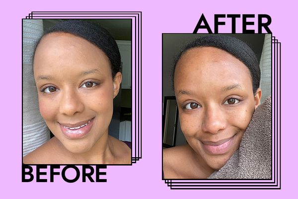 before and after tatcha cleanser