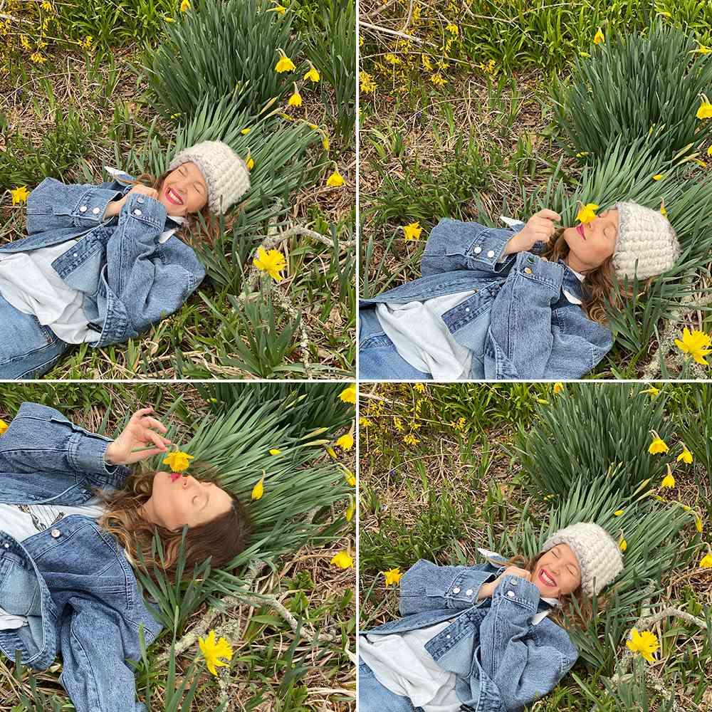 Drew Barrymore outside