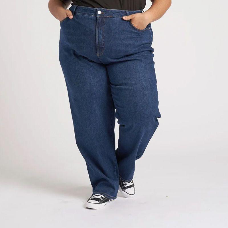 Donna High Rise Curve Straight Leg Jeans