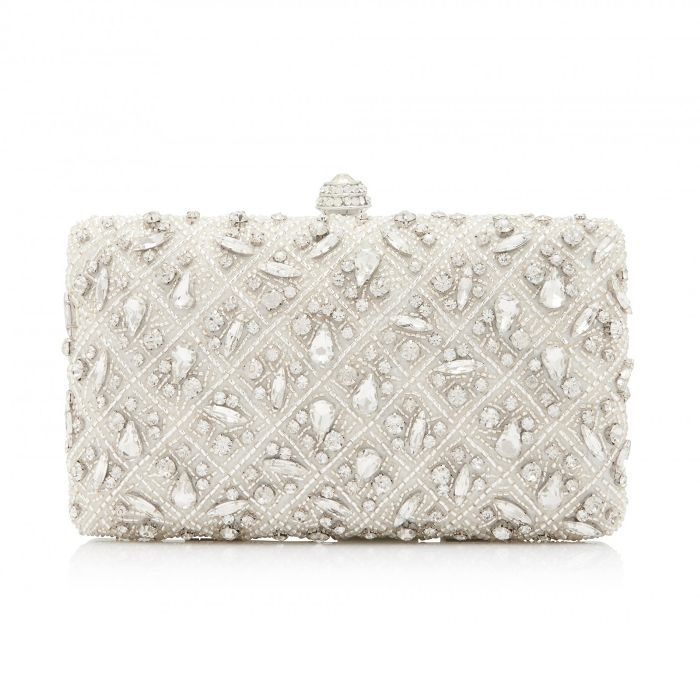 how to do your wedding makeup: Forever New Embellished Clutch Bag