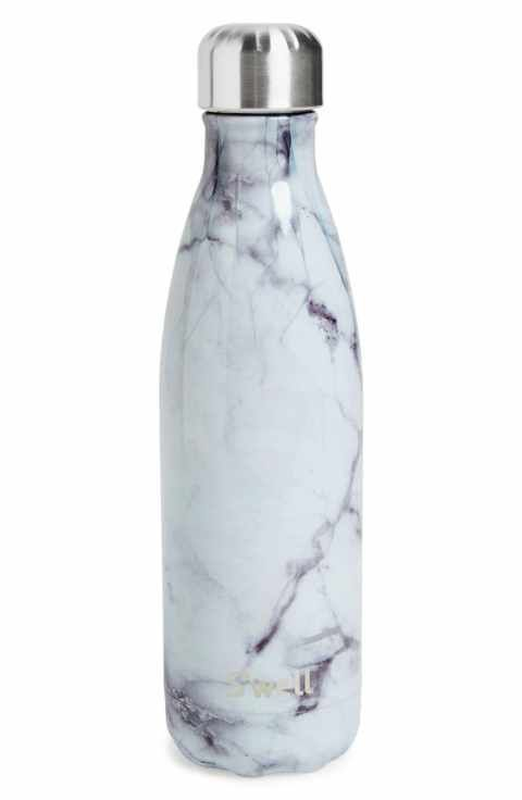 S'Well 'White Marble' Insulated Stainless Steel Water Bottle
