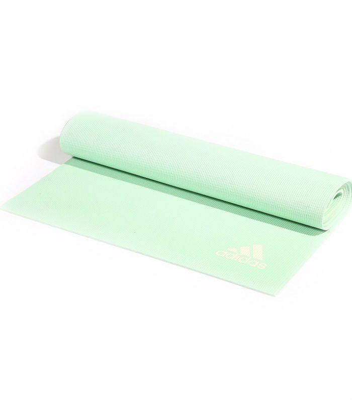 yoga for beginners: Adidas Yoga Mat in Frozen Green