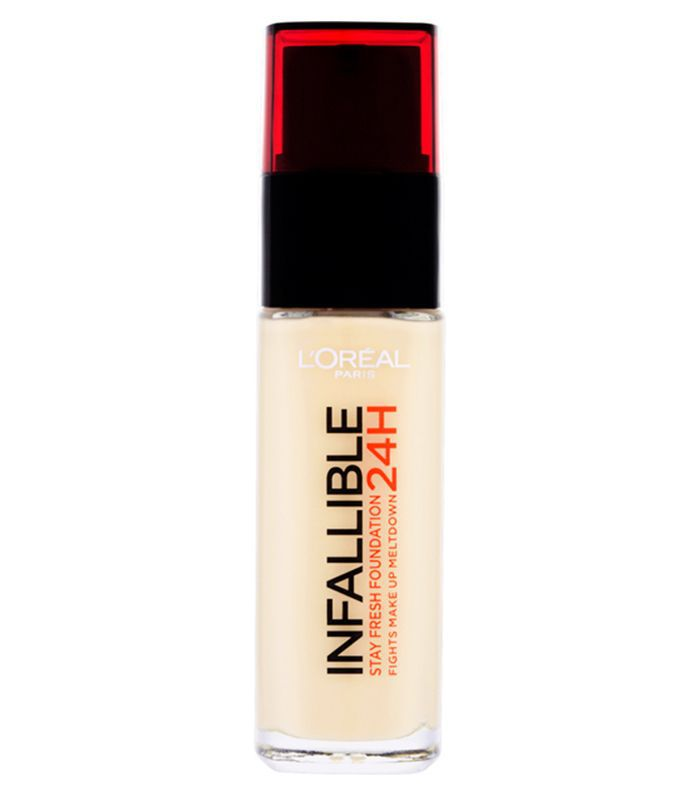 Best cheap full coverage foundation: L'Oreal Paris Infallible 24hr Foundation