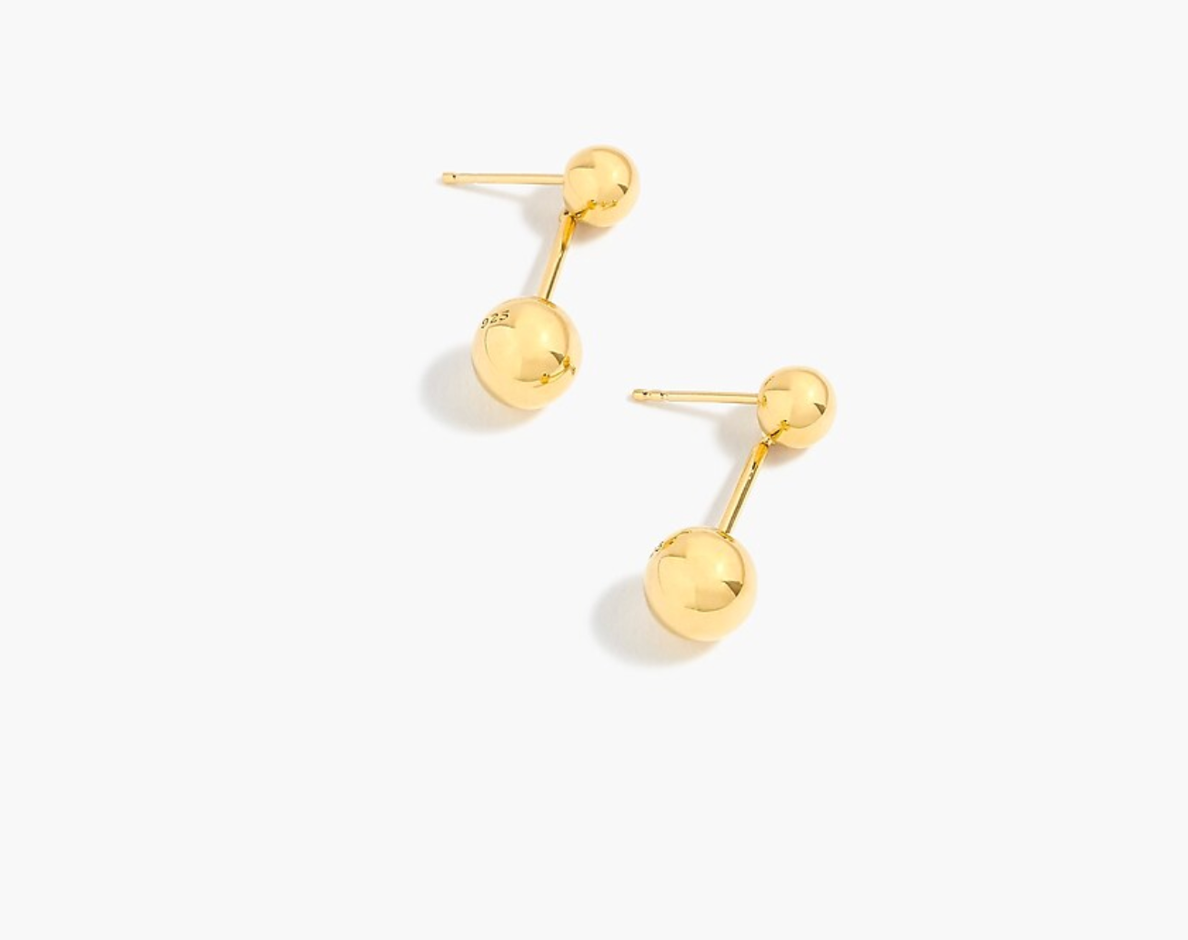 Demi-fine 14k gold-plated double-orb earrings