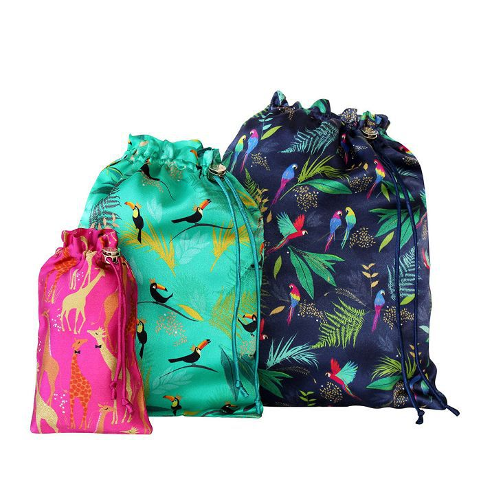 Sara Miller Set of 3 Travel Bags in Tropical Mixed