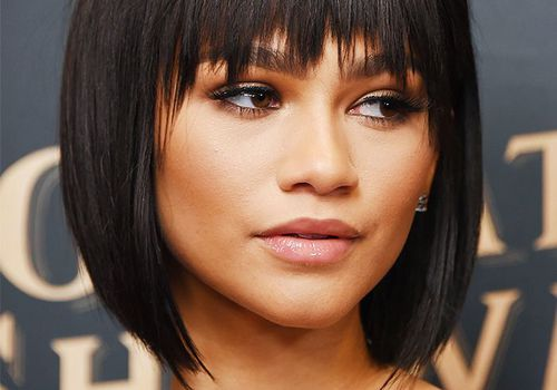 Zendaya hair: Zendaya with sleek bob haircut