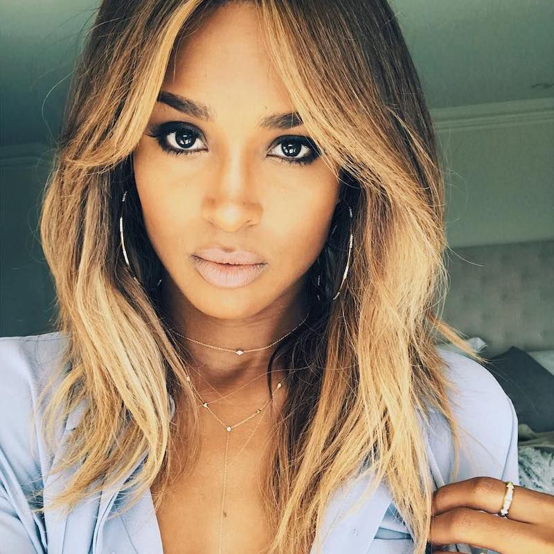 Brown Ombré Hair Ciara