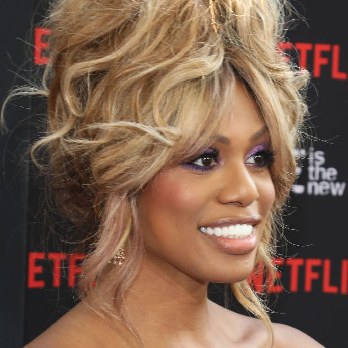 Laverne Cox '60s-inspired updo