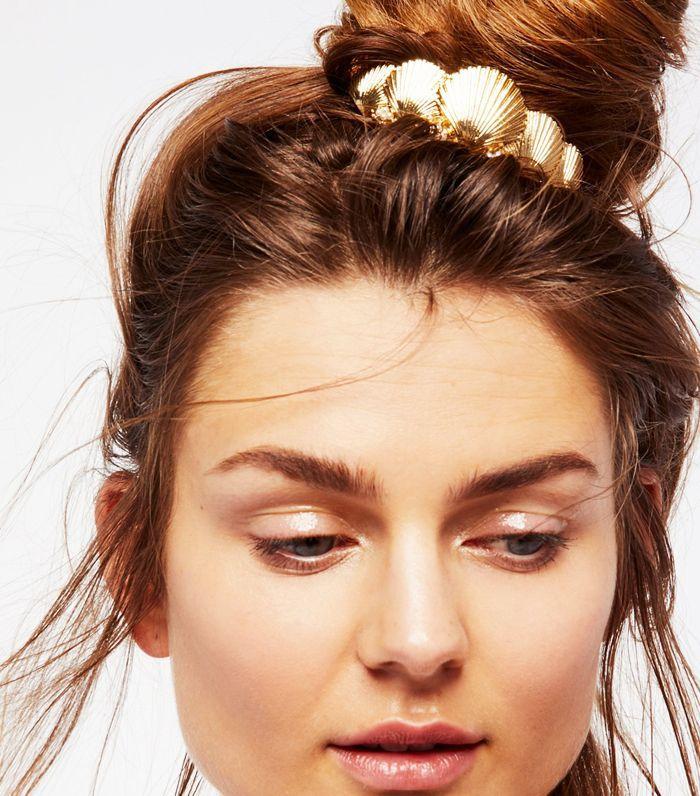 Half up hairstyles: Free People Seashell Bun Pin